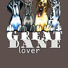Great Dane Lover (Dark) by offleashart