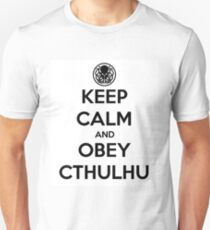Keep Calm and Obey Cthulhu Unisex T-Shirt