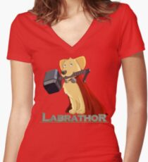 Labrathor Women's Fitted V-Neck T-Shirt