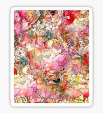 Colorful Watercolor Floral Pattern Abstract Sketch Sticker