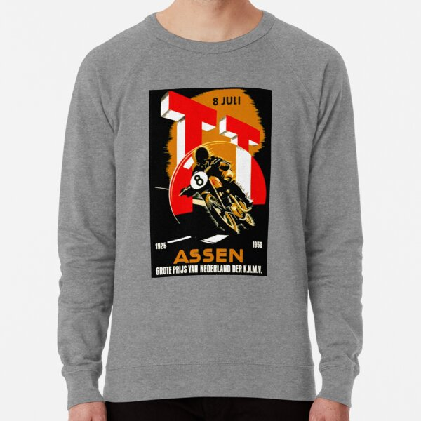 """MOTORCYCLE GRAND PRIX"" Vintage RACING Advertising Print Lightweight Sweatshirt"