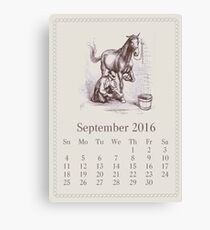 Vintage September Canvas Print