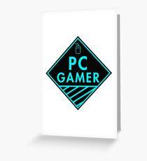 Pc Gaming (Blue) Greeting Card