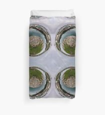 Hurry Head Harbour, Carnlough, County Antrim - Sky out Duvet Cover