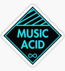 Music Acid Blue Sticker