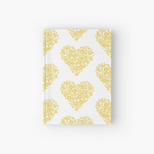 Rose modeled in a heart Hardcover Journal