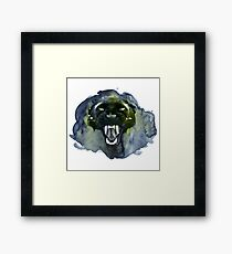 Watercolor Panther Framed Print