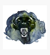 Watercolor Panther Photographic Print