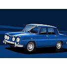 Poster artwork - Renault R8 Gordini by RJWautographics