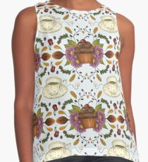 Autumnal Tea Party Contrast Tank