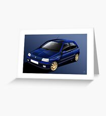 Poster artwork - Renault Clio Williams Greeting Card