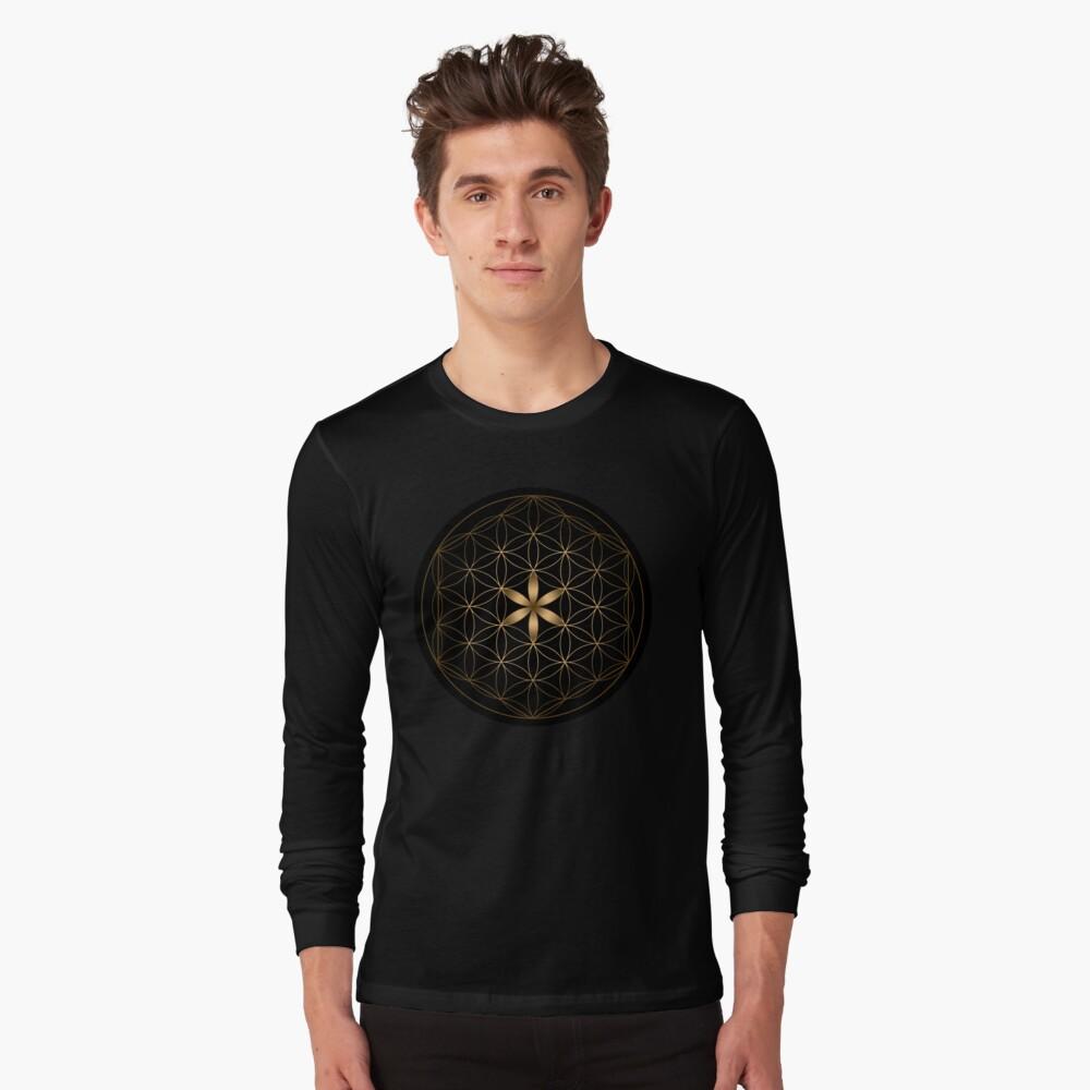 La flor de la vida Camiseta de manga larga