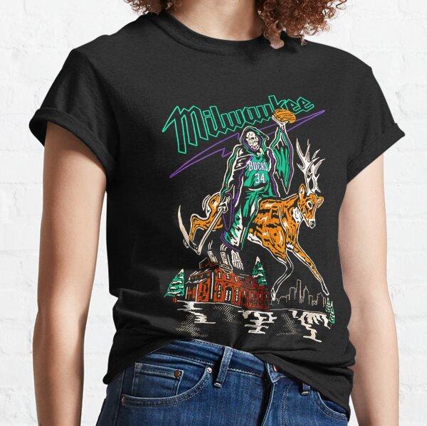 Warren-Lotas-Milwaukee-Bucks-Buckrider-Reaper-Deer Classic T-Shirt