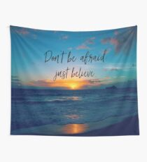 Inspirational Faith Verse Quote Wall Tapestry