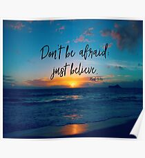 Inspirational Faith Verse Quote Poster