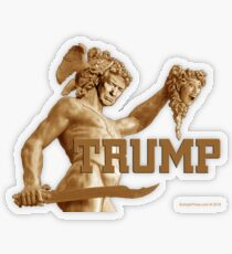 Perseus Beheads Medusa Transparent Sticker
