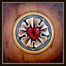 Luther's Rose - natural wood by Tanya Nevin