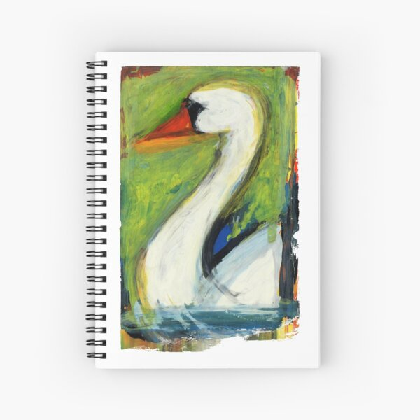 The beautiful Swan Spiral Notebook