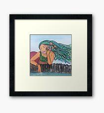 Mermaid Shell Phone Framed Print