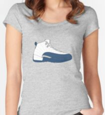 """Air Jordan XII (12) """"French  Blue"""" Women's Fitted Scoop T-Shirt"""