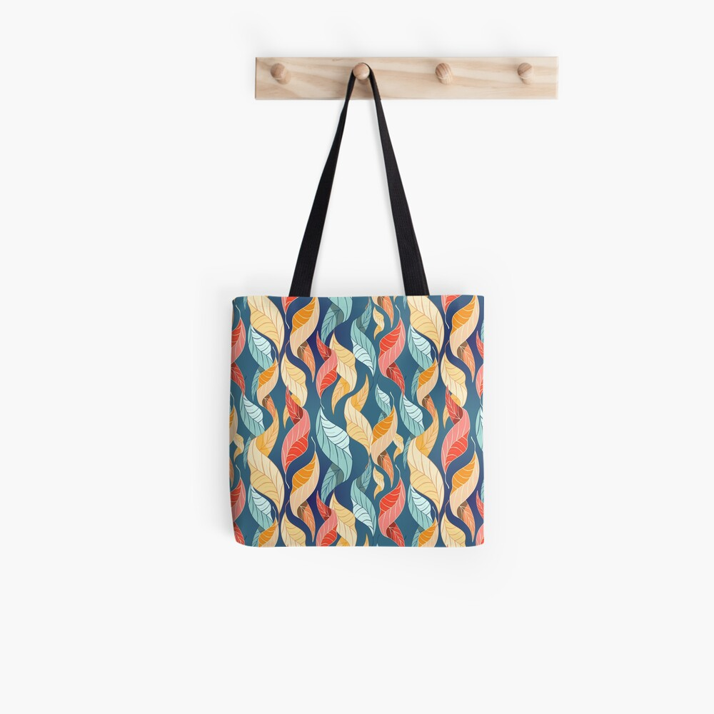 colorful autumn leaves pattern  Tote Bag