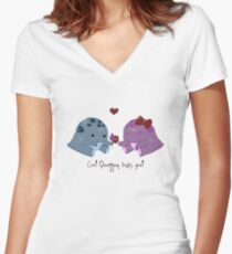 Quaggan loves you! Women's Fitted V-Neck T-Shirt