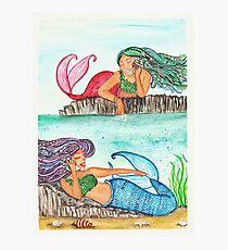 Mermaid Best Friends BFF Photographic Print