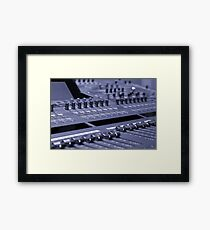 Mixing Console Framed Print
