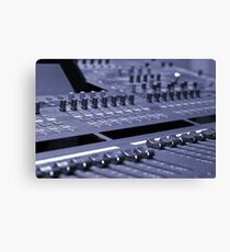 Mixing Console Canvas Print