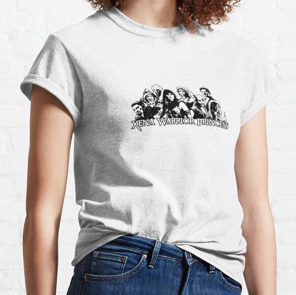 Xena Warrior Princess. Xena, Gabrielle, Ares, Joxer, Callisto, Ephiny, Autolycus & Aphrodite. Classic T-Shirt