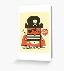 Pirate Kitty Greeting Card