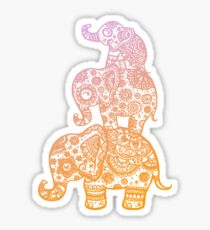 Elephant Family in Color Sticker