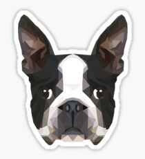 Crystalline Boston Terrier Sticker