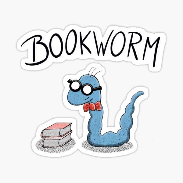 Kopie von Netter Bücherwurm Sticker