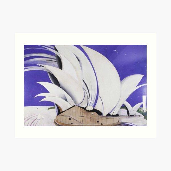 Brett Whiteley - Opera House (1982), oil on canvas. High quality reproduction of the original artwork. Art Print