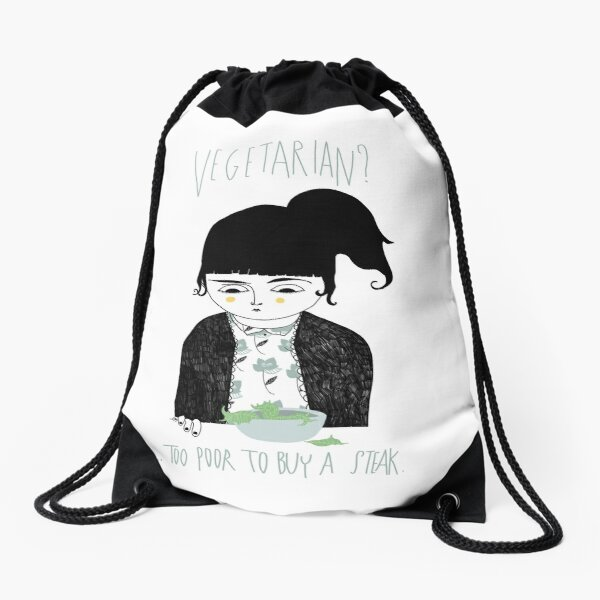 Vegetarian? Drawstring Bag