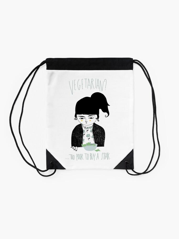 Alternate view of Vegetarian? Drawstring Bag