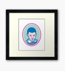 Eleven (or Elf) from Stranger things  Framed Print