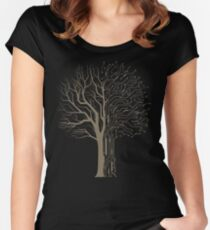 Digital Tree Women's Fitted Scoop T-Shirt