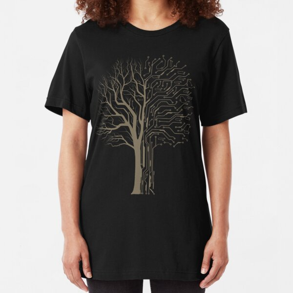 Digital Tree Slim Fit T-Shirt