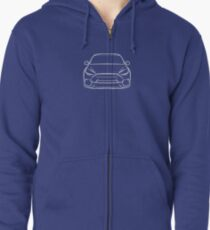 2016 Ford Focus RS White Zipped Hoodie