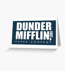 Dunder Mifflin - The Office Greeting Card
