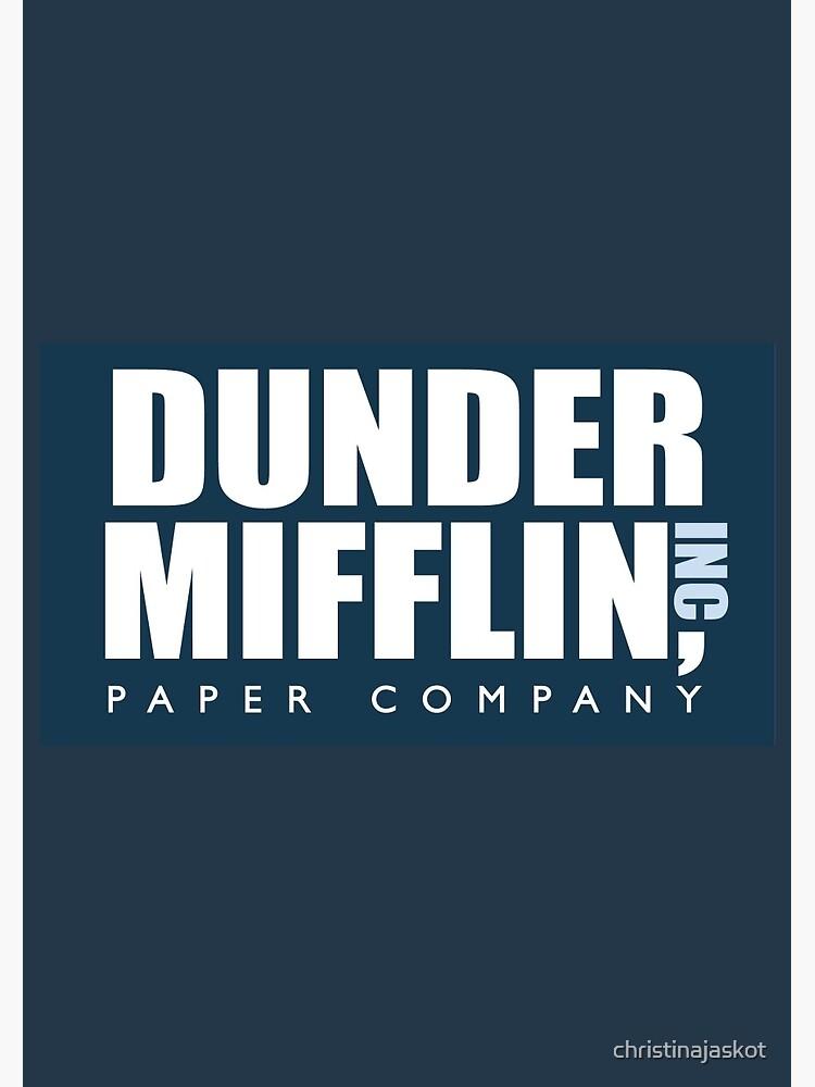 Dunder Mifflin - The Office by christinajaskot