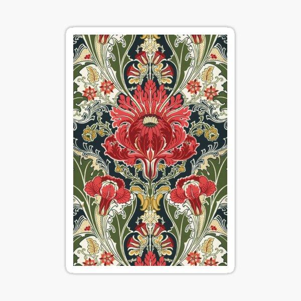 The Dovedale Floral Vintage Wallpaper Pattern Sticker