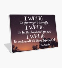 I Write Laptop Skin
