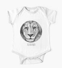 Body de manga corta para bebé Alabama´s Lion