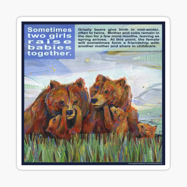 Mama Bears (Grizzly Bear) Sticker