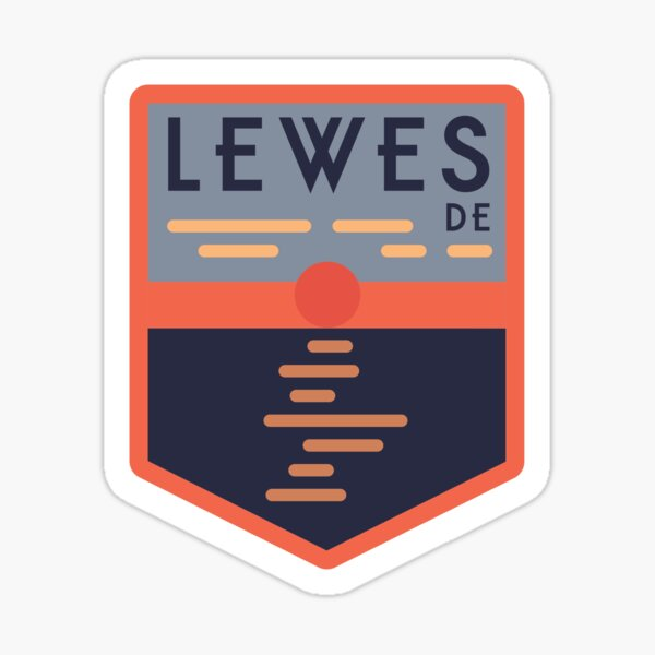 Lewes, Delaware Graphic Items! Sticker