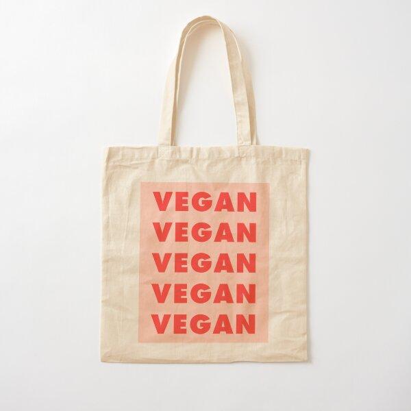 Vegan Vegan Vegan Cotton Tote Bag