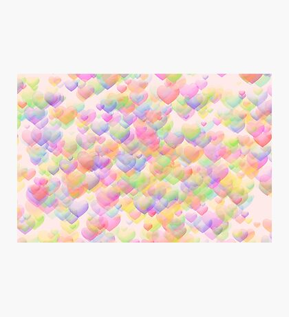 Floating  Hearts Photographic Print